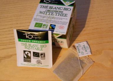 Thé blanc natur de chez Touch Organic