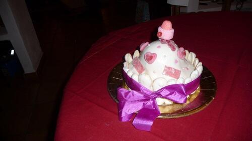 Double Gâteaux mousse de framboise pour anniversaire ...