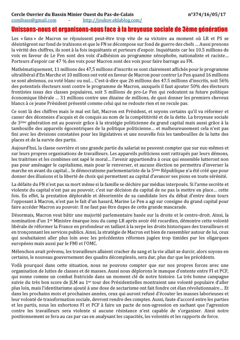 Cahiers n°374