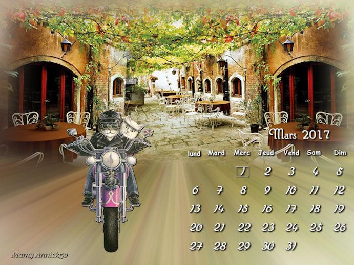 calendrier mars chez Sissi