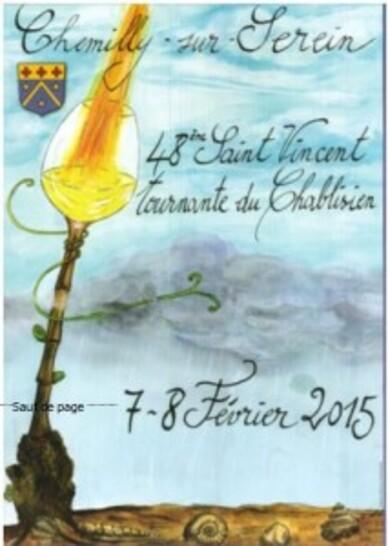 la saint vincent tournante des vins du chablisien à chemilley sur serein