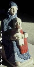 Sainte Anne, sculpture de Martin Damay, reproduction interdite