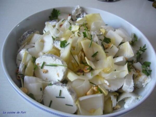 Salade dendives poires et chèvre