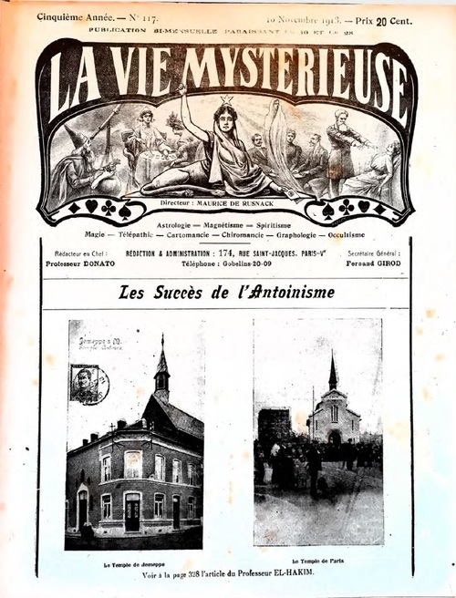 Les Succès de l'Antoinisme (La Vie Mystérieuse, n°117, 10 nov. 1913)