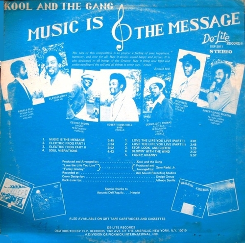 "Kool & The Gang : Album "" Music Is The Message "" De-Lite Records DE-P-2011 [ US ]"