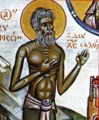 Saint Syméon le Fou et Jean, ermite, son compagnon (6ème s.)