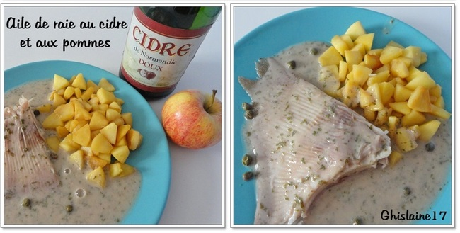 Raie au cidre et aux pommes