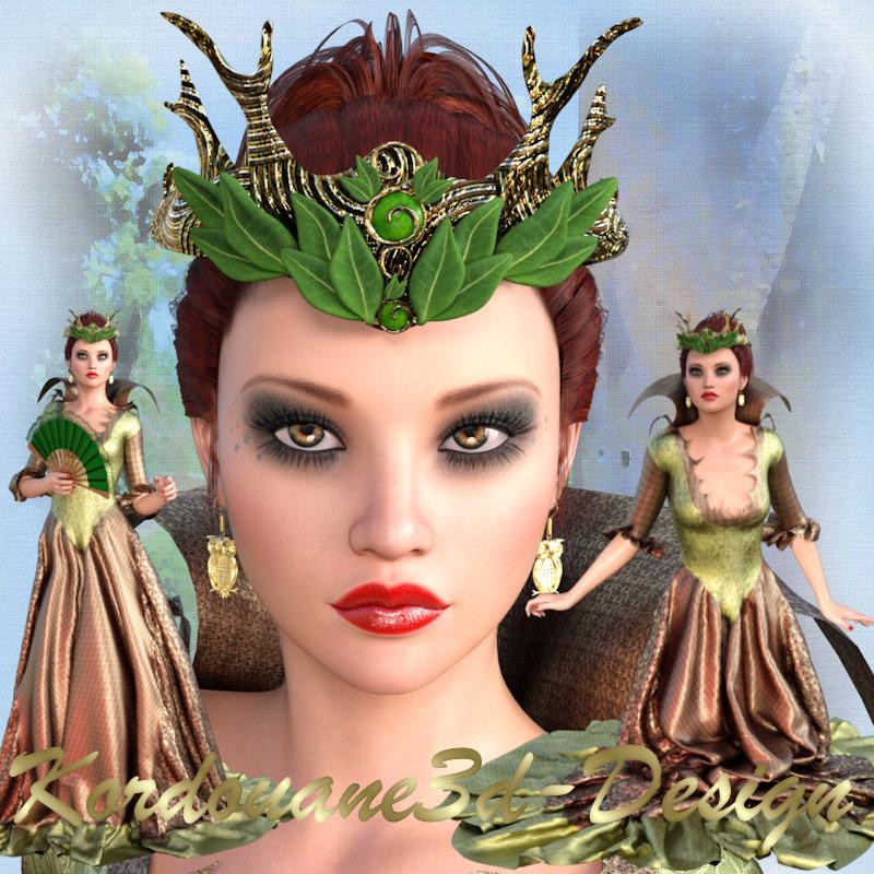Linaelle : 3 tubes de femme reine de la forêt