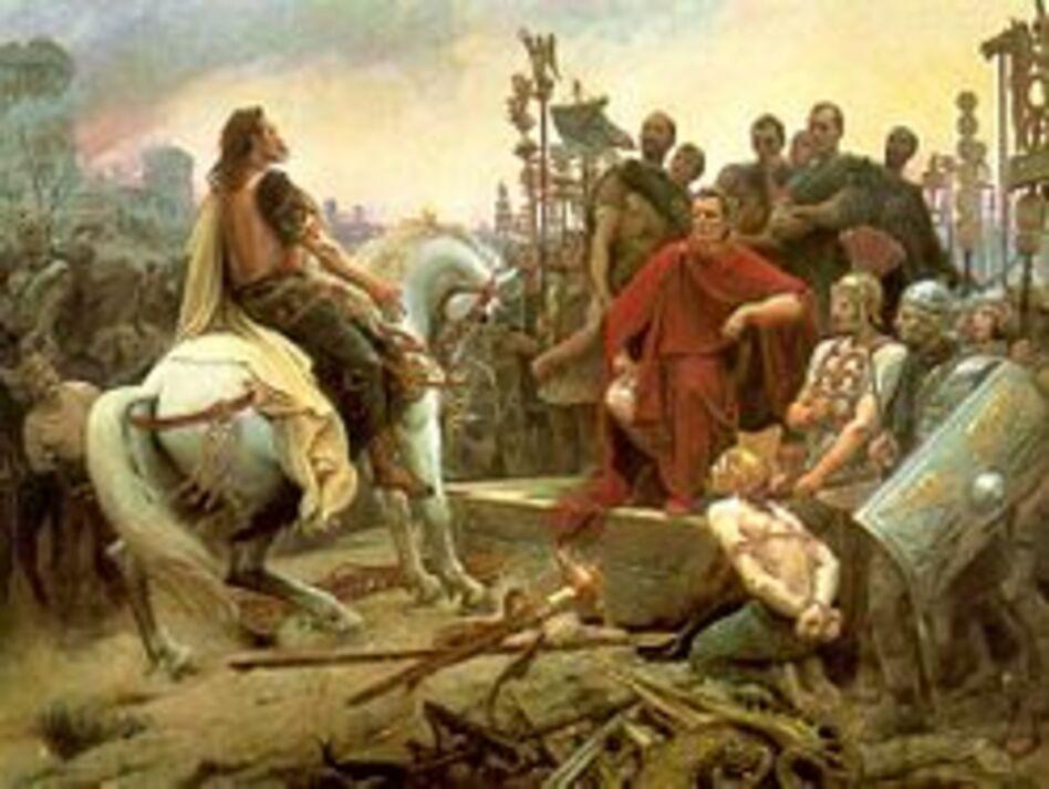 Vercingétorix capitule devant l'empereur César