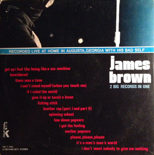 "James Brown : Album "" Sex Machine "" King Records KS-7-1115 [ US ]"