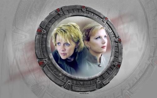 Wallpaper Stargate Sam et Janet