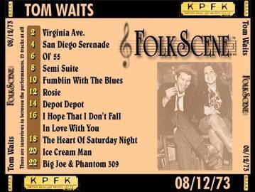 Le Choix des lecteurs # 139: Tom Waits - Folkscene - 12 août 1973