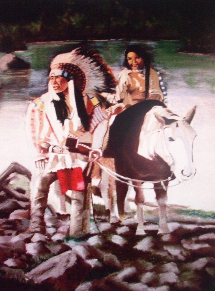 L'indien et sa fille