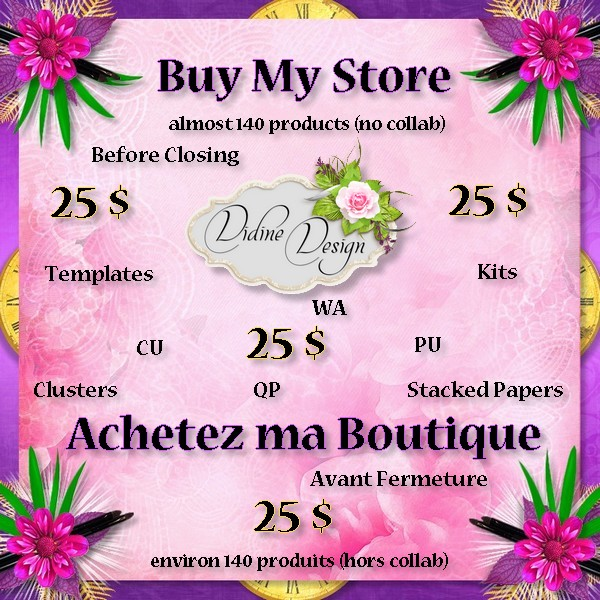 Vente boutique Didine Design avant fermeture !!!!