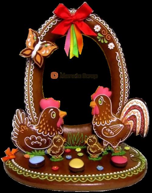 Pâques Page 12 - Biscuits de Pâques décoré avec du sucre glace