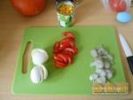Salade composée tiède aux dés de poulet