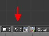Le curseur 3D sert de point de pivot