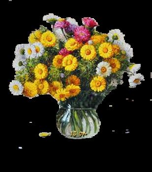 tubes de fleurs diverses