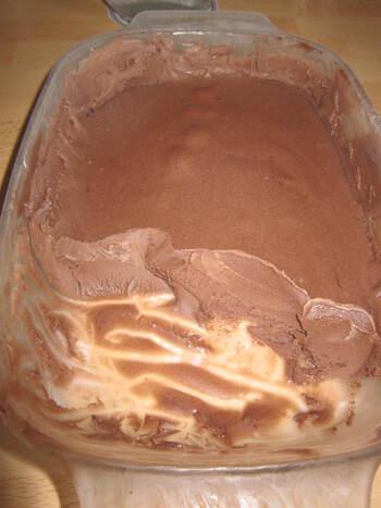Glace au chocolat