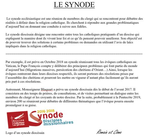 Le synode