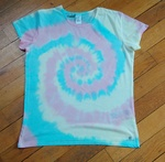 "Tuto : T-shirt ""tie and dye"" spirale"