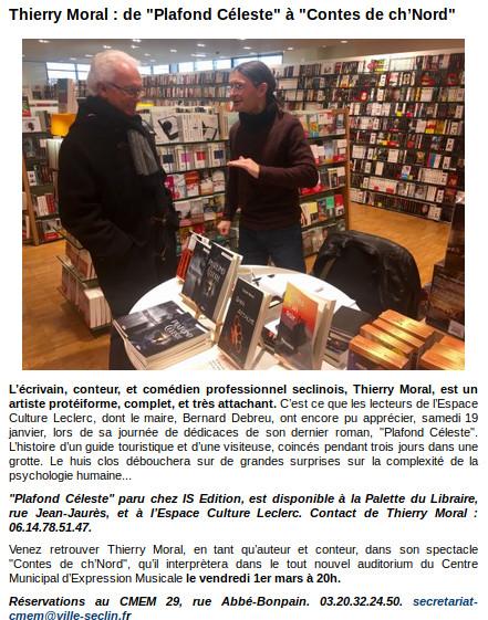Plafond Céleste - Article Ville de Seclin