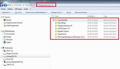 Windows 7 et 8,1 en duo (partie 5) programmes live