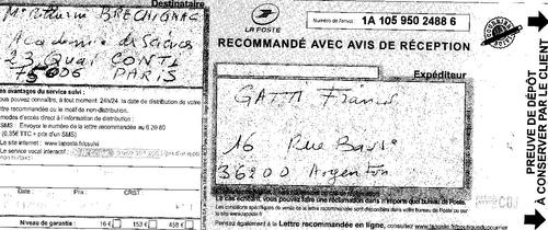 Accusé réception PLI cacheté N°2 15octobre 2014