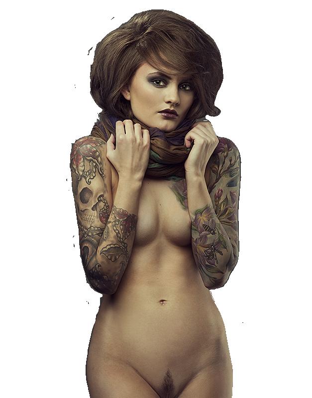 tube femme tatouée