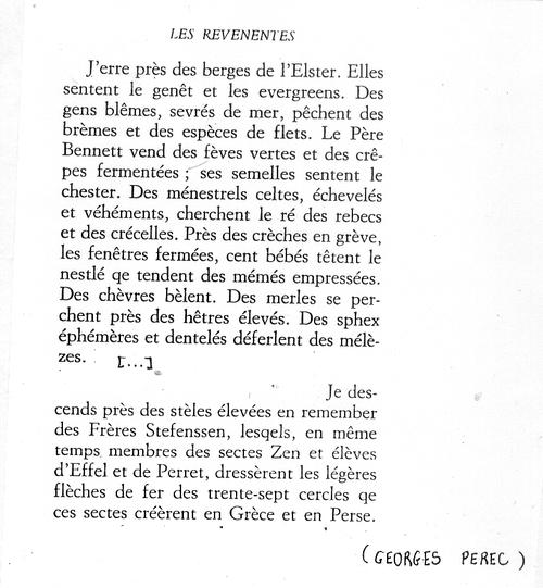 GEORGES PEREC - Autour du mot «RENTRÉE»