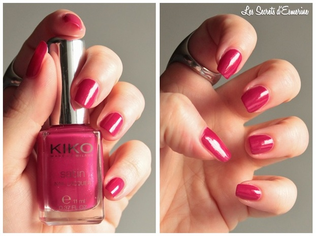 carmine, red, vernis, 447, Collection, Satin, Nail, Lacquer, Kiko