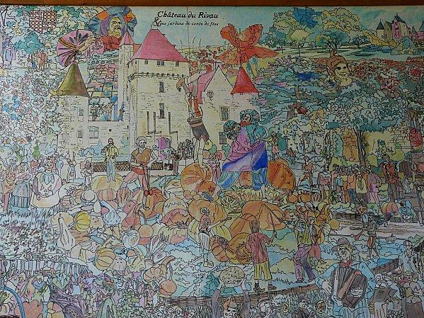 1 - Chateau du Rivau -Fresque exterieure de Claude-copie-1