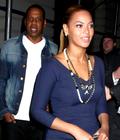 Beyonce et Jay-Z quittant, The Nobu Restaurant