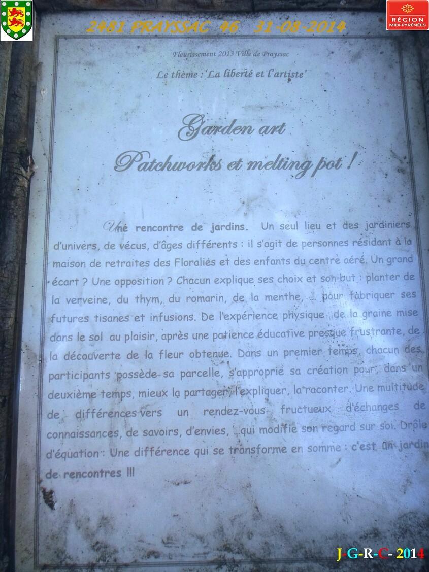 VACANCES  PRAYSSAC  46  2/2  31/08/2014  D  26/02/2015