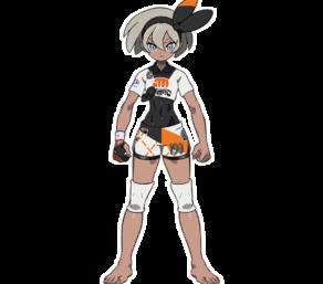 Faïza, championne combat Pokémon Épée, artwork officiel