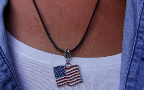collier drapeau usa