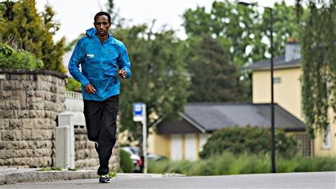 Le marathonien éthiopien Yonas Kinde