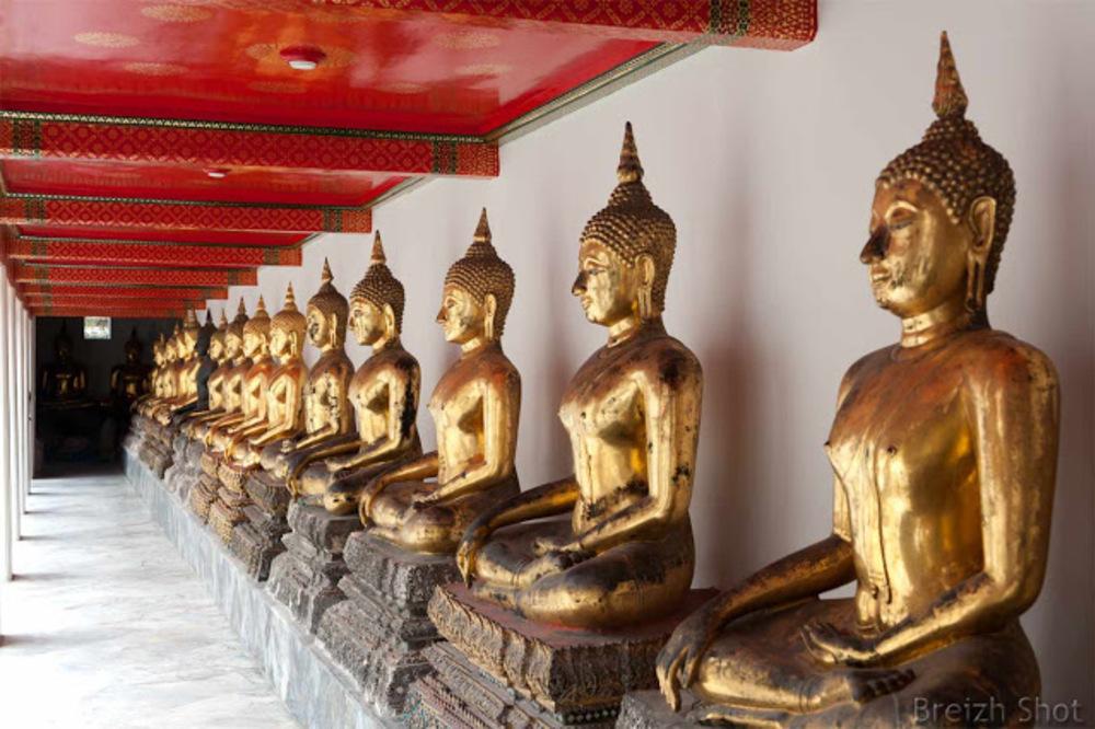 Bangkok -  Wat Pho : Les postures des bouddhas