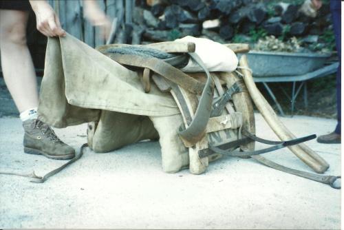 Bât pour âne en Corse