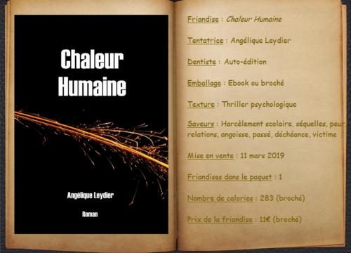 Chaleur Humaine - Angélique Leydier