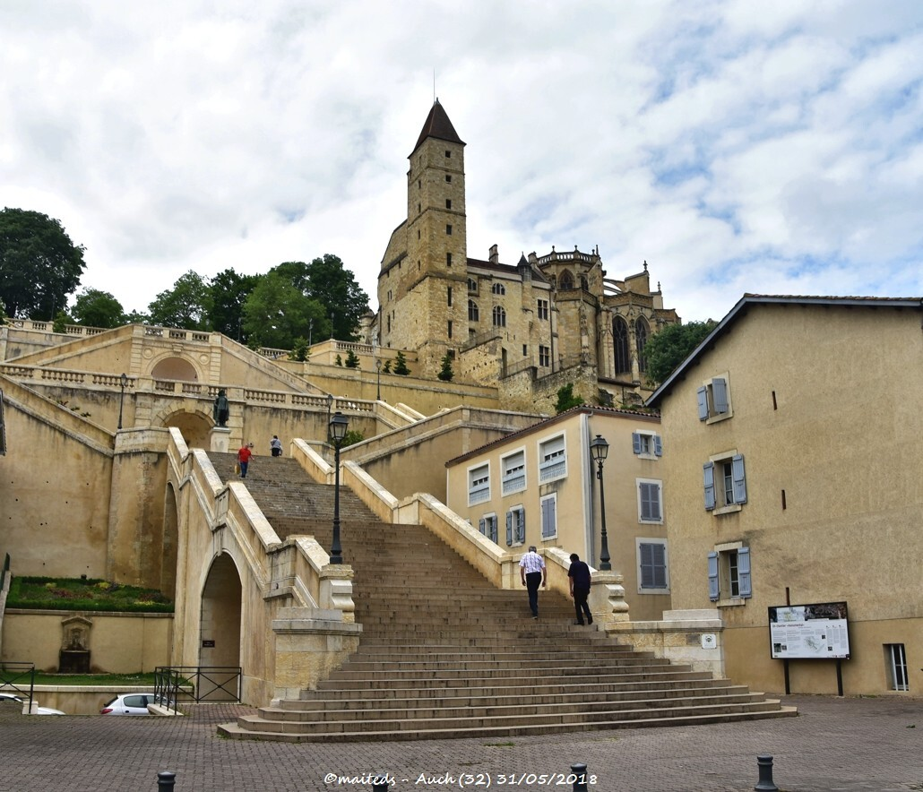 Auch - L'escalier monumental
