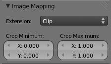 Sélectionner Clip dans le panneau Image Mapping
