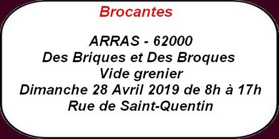 Brocante, concert et autres loisirs à Arras et ses environs - 27 et 28 avril