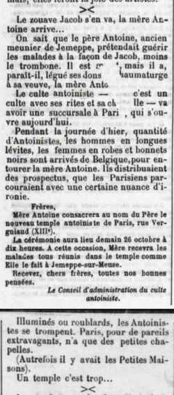 Consécration temple Paris (La Gazette 27 octobre 1913)