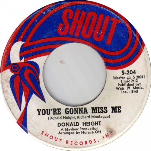 DONALD HEIGHT - you're gonna miss me