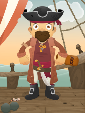 Dessins Personnages Pirates