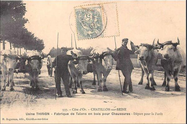 Une belle carte postale de  l'usine  nous est envoyée par Jean-Louis Chapet