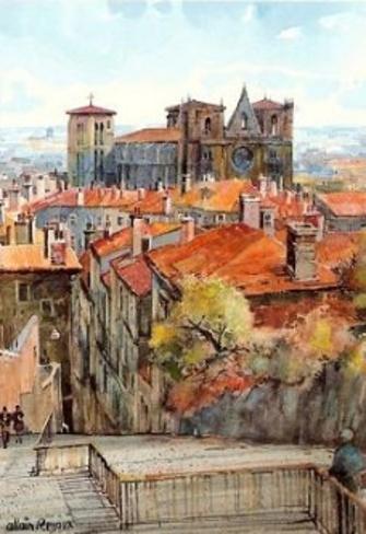 Le vieux Lyon, quartier Saint-Jean