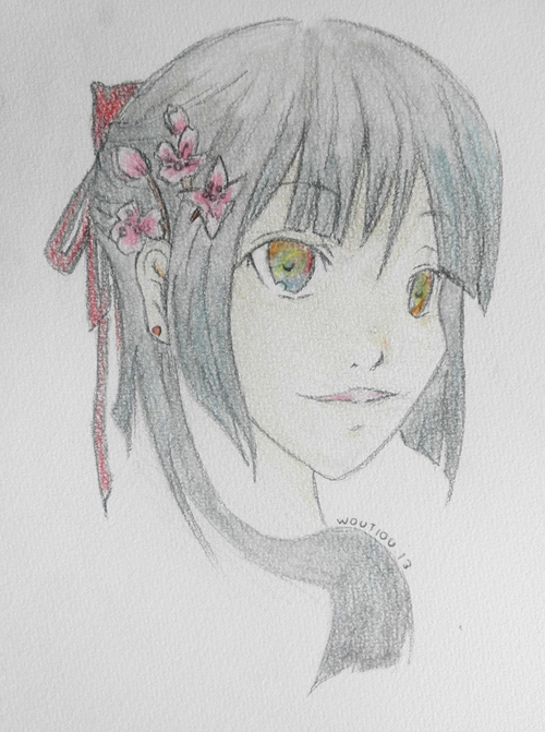 "• Dessin ""visage fille manga chinoise"""