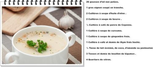 Soupe au 26 gousses d'ail